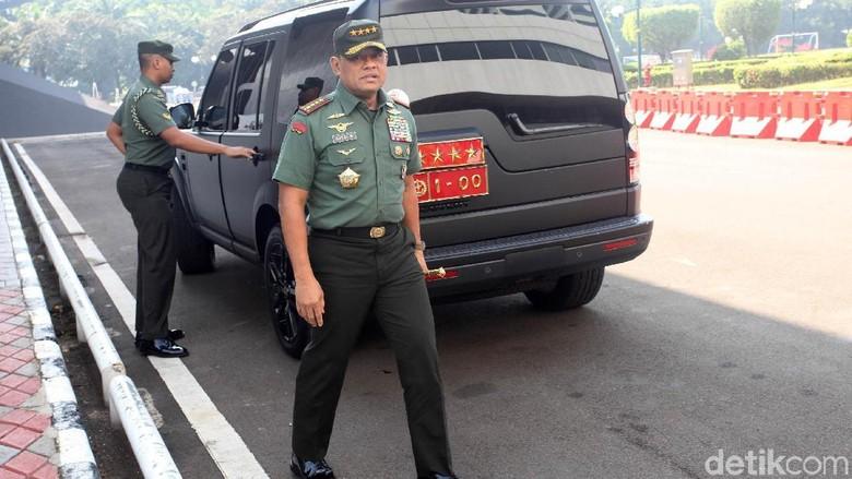 Proses Pergantiannya Tak Ada Nuansa - Jakarta Jenderal Gatot Nurmantyo meyakini proses pergantian Panglima TNI dari dirinya kepada Marsekal Hadi Tjahjanto sesuai dengan Menurut