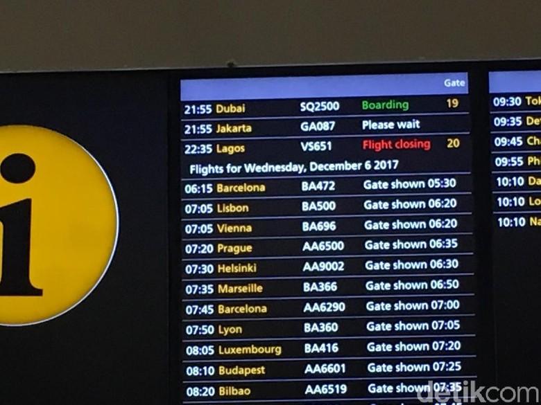 Ada Persoalan Garuda Batal Terbang - London Garuda Indonesia yang sedianya bertolak dari London menuju Jakarta batal Ada kendala teknis yang berkaitan dengan air