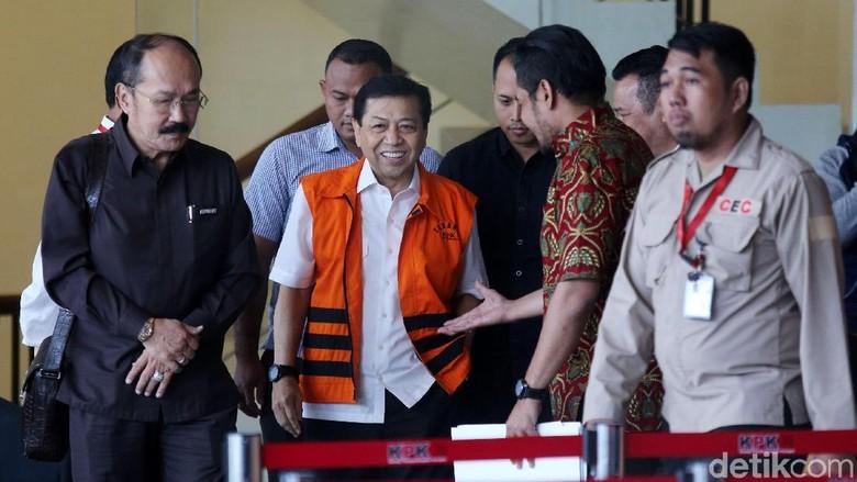 Jelang Sidang Perdana Beliau Sehat - Jakarta Ketua KPK Laode M Syarif berharap tersangka dugaan korupsi Setya Novanto sehat menjelang sidang perdana Desember Laode