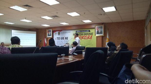 Kepala BNN Komjen Budi Waseso seminar di Fraksi PKS