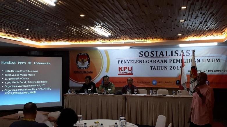 Sosialisasi Pemilu 2019, KPU Surabaya Ajak Warga Berperan Aktif