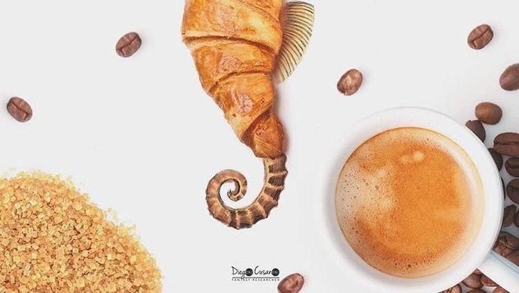 Keren! Seniman Ini Bikin Gambar Unik dengan Makanan