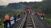 Jalur Kereta Api di Garut Ambles
