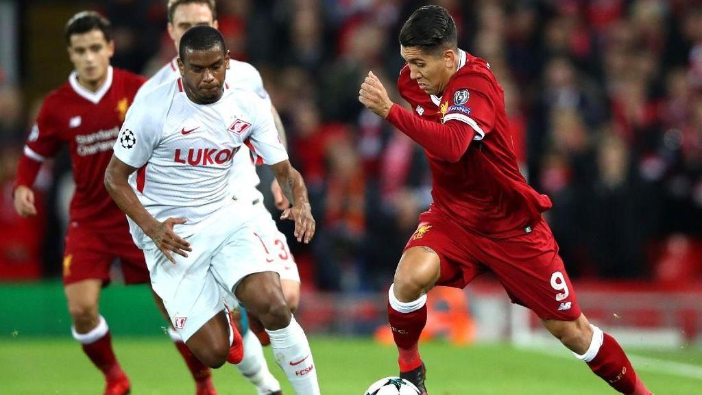 Liverpool Sementara Ungguli Spartak 3-0
