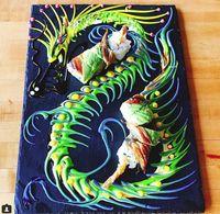 Tak Disajikan Dalam Mangkuk, Saus Sushi Ini Digoreskan Jadi Gambar Cantik