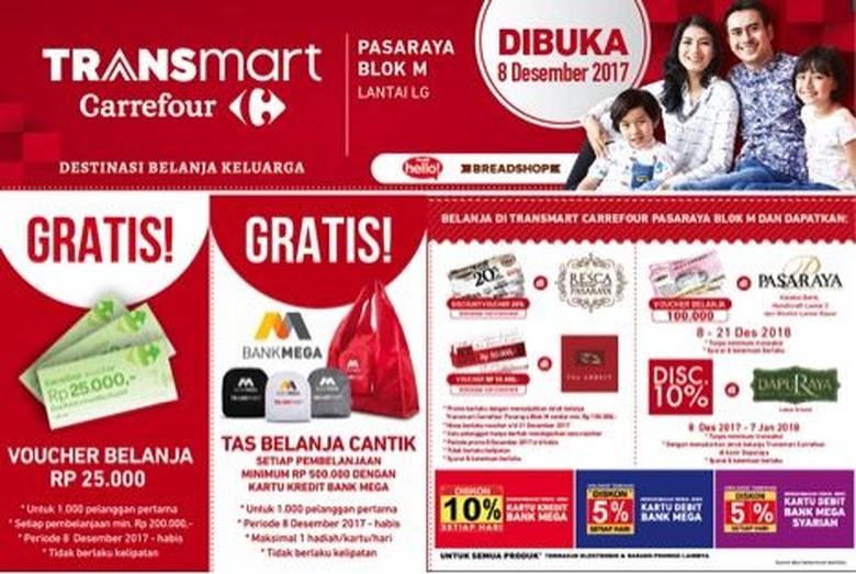 Promo Menarik di Pembukaan Transmart Carrefour Pasaraya Blok M