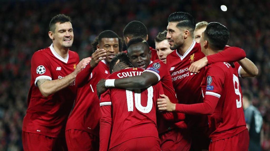 Hancurkan Spartak Moskow 7-0, Liverpool Lolos ke 16 Besar