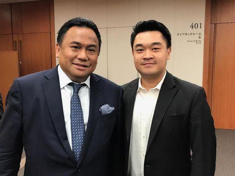 Amir Sudjono dan Rachmat Gobel