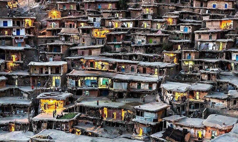 Pegunungan Alborz di Iran utara punya destinasi menarik bagi para traveler. Di sana ada sebuah desa yang terbuat dari atap, namanya Masouleh (@reza_palangroodi/Instagram)