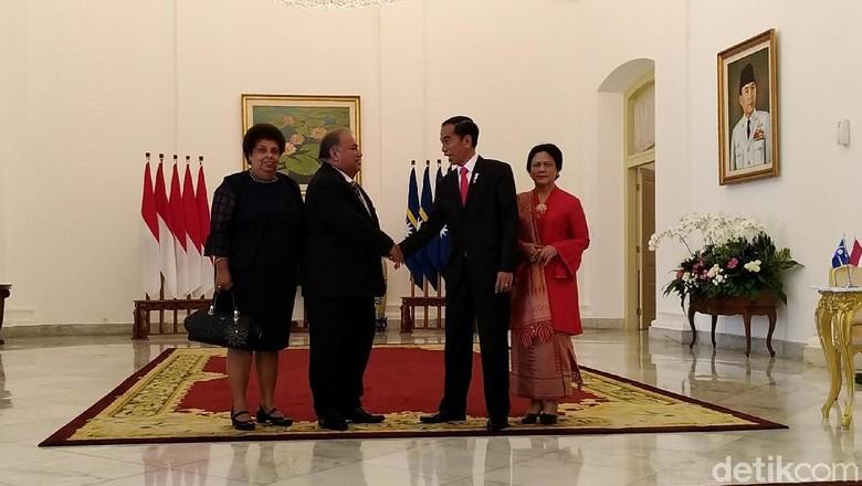 Jokowi Sambut Presiden Nauru di Istana Bogor