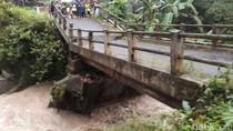 Jembatan Amblas, Jalan Utama Kaliwiro-Kalibawang Wonosobo Ditutup