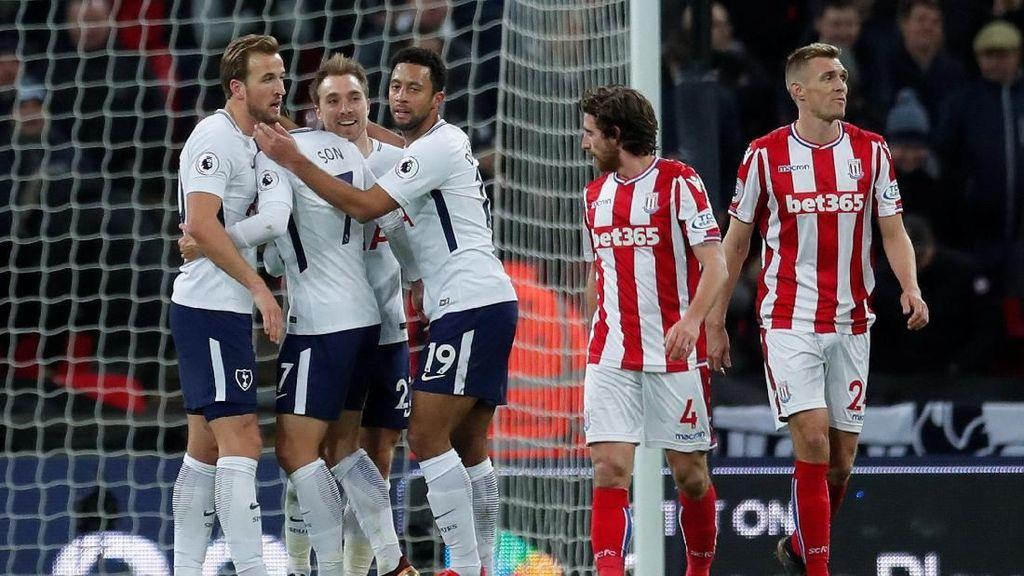 Akhiri Puasa Kemenangan, Spurs Libas Stoke 5-1