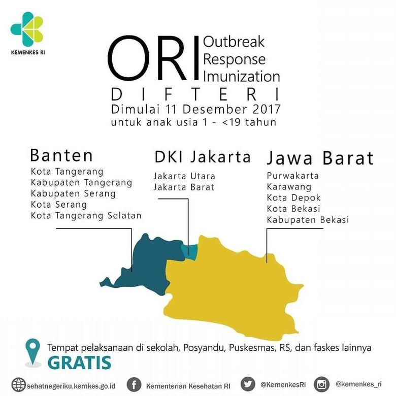 Ada Imunisasi Difteri di dan - Informasi imunisasi difteri serentak di Provinsi Twitter Jakarta Kementerian Kesehatan akan melakukan imunisasi serentak untuk penanganan terkait Kejadian