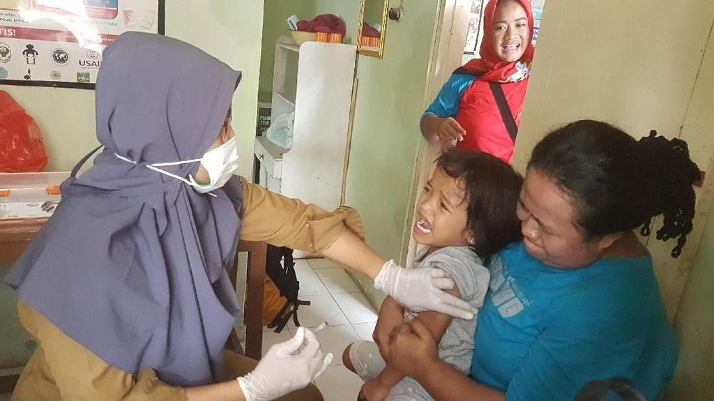 KLB di 7 Kabupaten Kota, Banten Lakukan Imunisasi Difteri Serentak