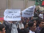 Kecam Pernyataan Trump, Mahasiswa Demo Konjen AS di Medan