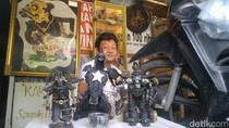 Kreatif, Tukang Tambal Ban di Semarang Ubah Limbah Jadi Karya Seni