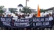 Aksi Massa 1112 di Bandung untuk Palestina