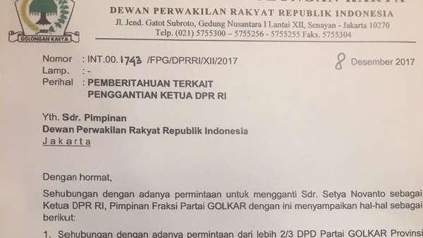 Kubu Anti-Novanto Kirim Surat Tandingan Tolak Aziz Jadi Ketua DPR