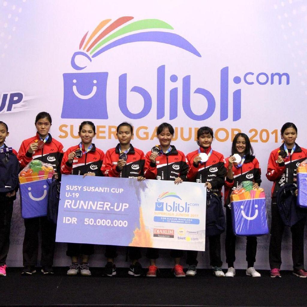 Hasil Lengkap Superliga Badminton Junior 2017