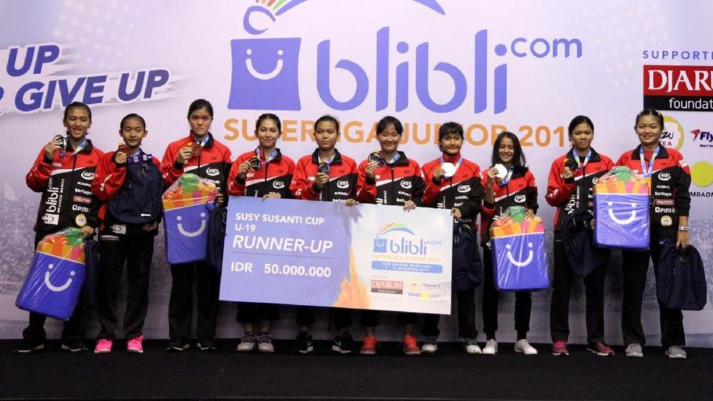 Hasil Lengkap Superliga Badminton Junior 2017