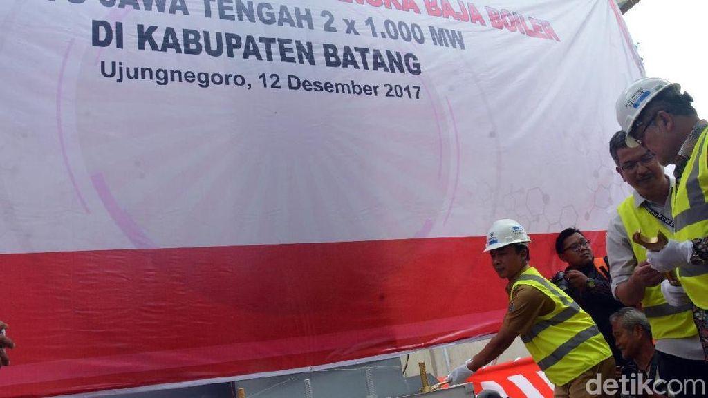 Proyek PLTU Batang Masuk Tahap Pemasangan Struktur Baja Boiler