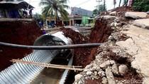 Perbaikan Jembatan Ambles di Citayam Terus Dikebut
