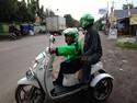 Jadi Driver Ojek Online, Dede Harap Bisa Semangati Difabel Lain