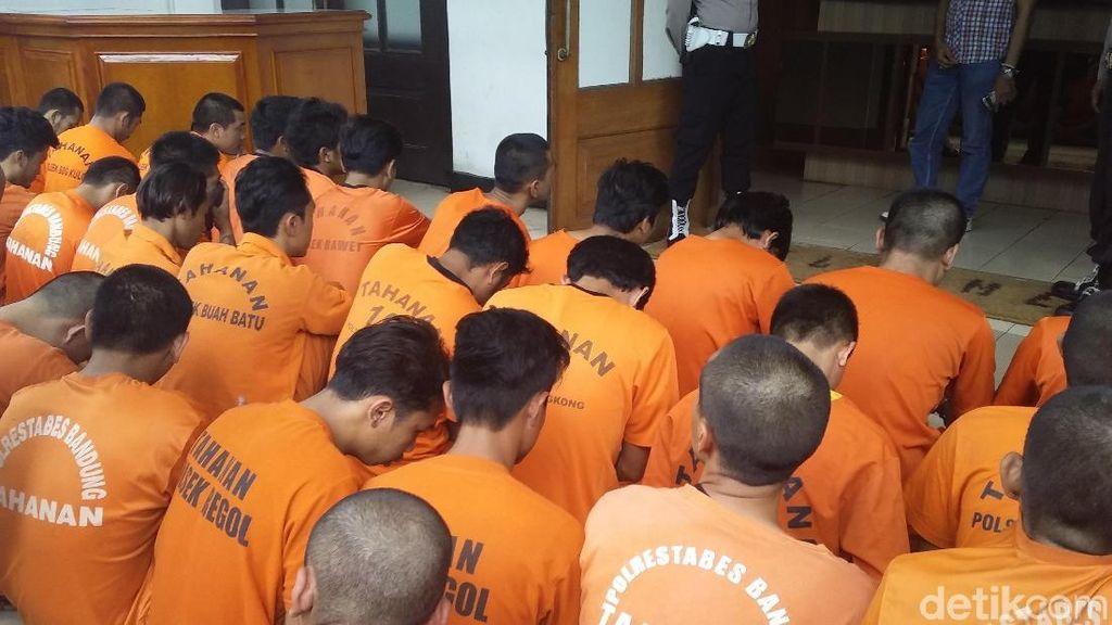 36 Penjahat di Bandung Terjaring Libas Lodaya