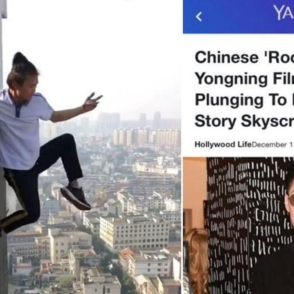Kacau, Pemanjat Gedung yang Tewas Disangka Vanness Wu