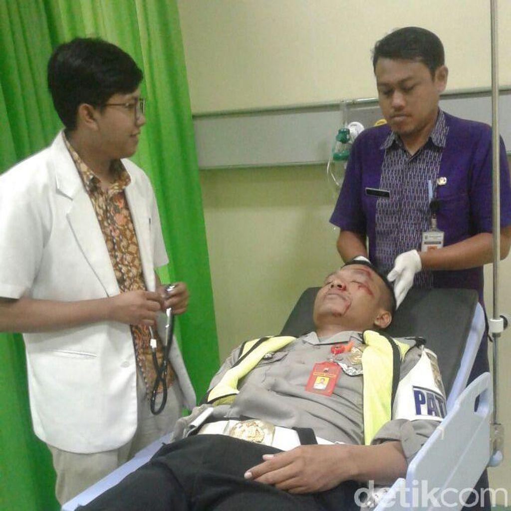 Seorang Pemotor di Jepara Nekat Tabrak Polisi Untuk Hindari Razia