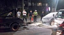Mobil Terbakar di Jalan Layang Antasari Jaksel