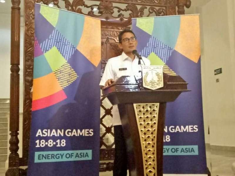 Sandiaga Perintahkan Kelurahan Gaungkan Asian Games 2018 ke Warga