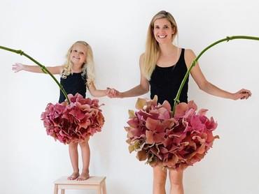 Bagus banget rok tutunya, tema bunga besar gitu.  (Foto: Instagram @happygreylucky)