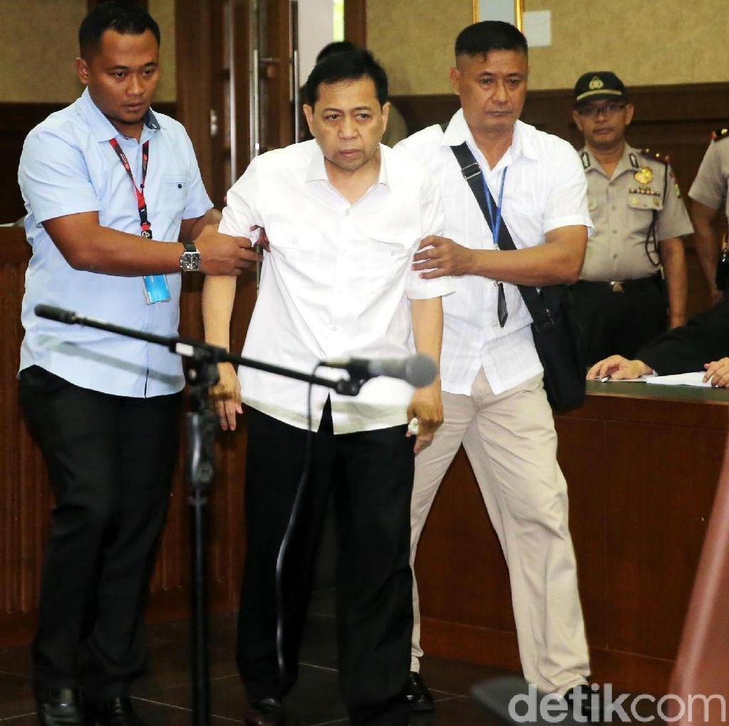 Cek Kesehatan Novanto di Sidang Perdana, KPK Gandeng RSCM dan IDI