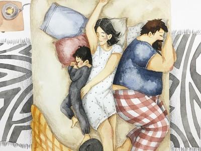 Sweet! Ilustrasi Keluarga Ini Bikin Melting