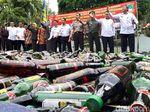 Operasi Jelang Natal di Tangerang, Polisi Sita Ribuan Botol Miras
