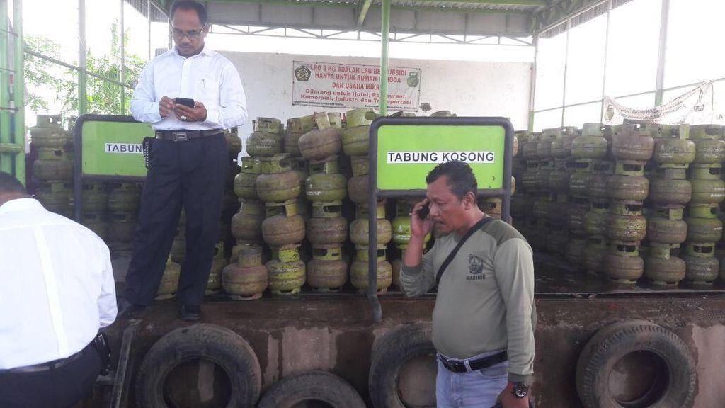 Operasi Pangan di Gowa Temukan Tabung Elpiji Tak Standar