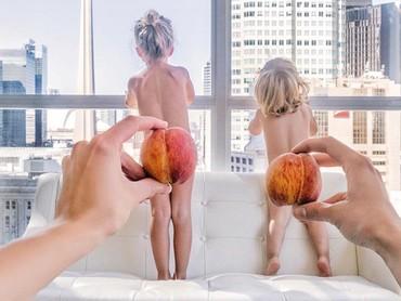Kalau yang ini saat plum jadi celana anak-anak. (Foto: Instagram @happygreylucky)