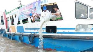KKP Tebar 270 Ribu Benih Ikan di Sungai Musi