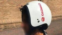 Pakai Helm Terbalik, Pemotor Ini Didenda Rp 3 Juta