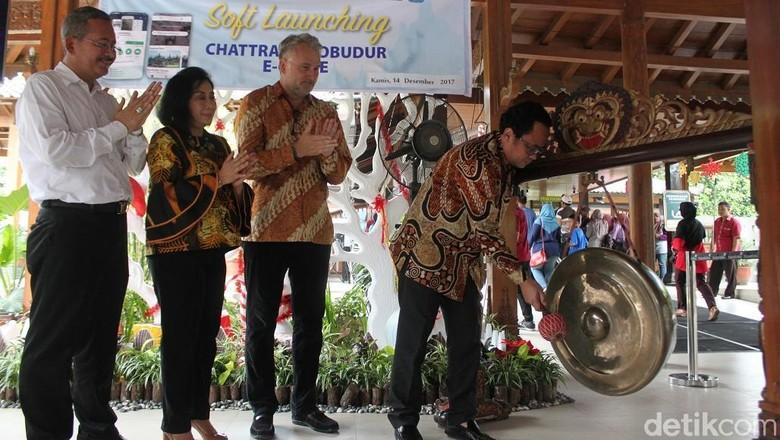 Foto: Peluncuran aplikasi Chattra Borobudur E-Guide (Pertiwi/detikTravel)