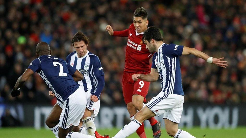 Liverpool Masih Tertahan 0-0 oleh West Brom