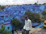 FOTO: Kampung Biru, Wisata Tematik Baru di Kota Malang