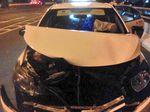 Kecelakaan Pikap dan Taksi di Tol Pedati, Kendaraan Ringsek
