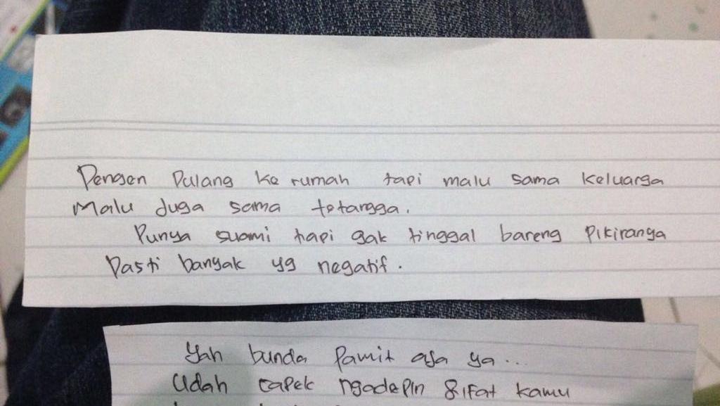 Ini Surat Sales Cantik Sebelum Dimutilasi Suaminya