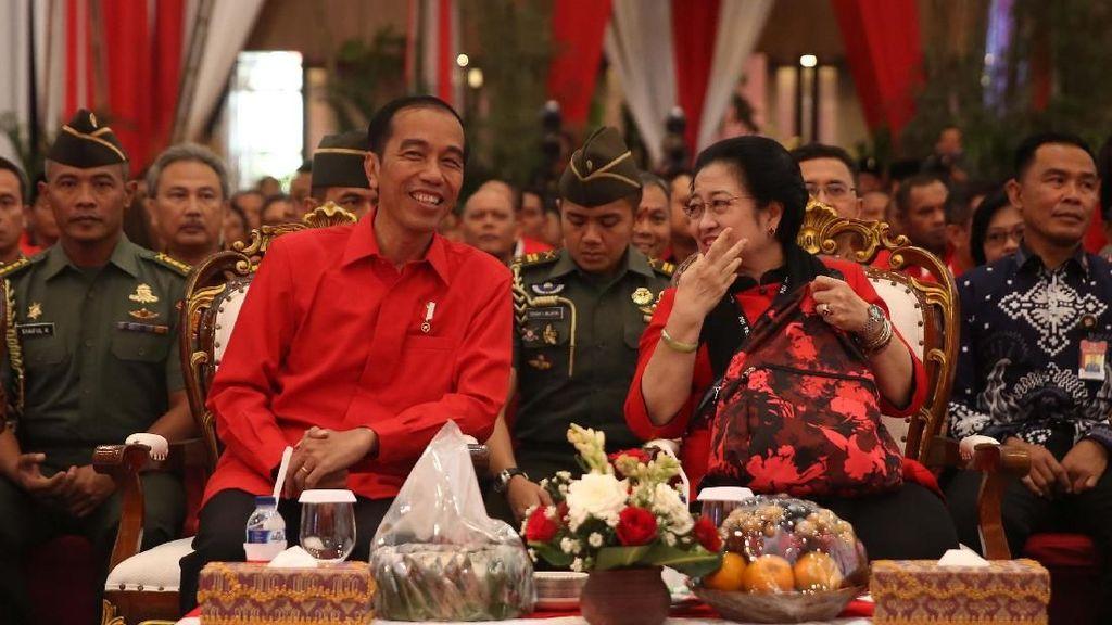 Jokowi Hadiri Rakornas Tiga Pilar PDI Perjuangan