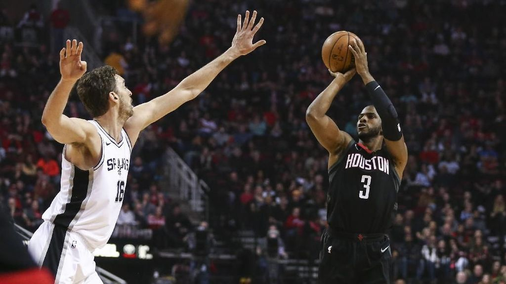 Kalahkan Spurs, Rockets Raih 12 Kemenangan Beruntun