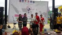 Sandi Harap Festival Hari Onde - Jakarta Wakil Gubernur DKI Jakarta Sandiaga Uno menghadiri festival Hari Onde di Ruang Terbuka Hijau RPTRA Jakarta Festival