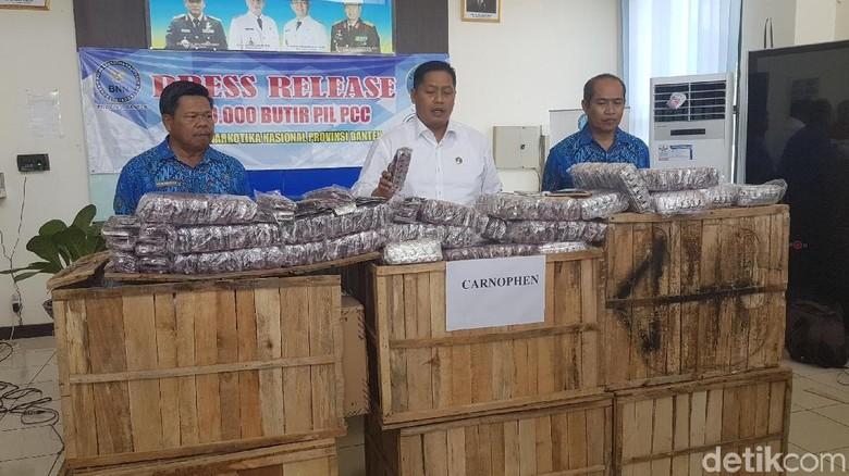 BNN Temukan 246 Ribu Pil Zenith di Rangkasbitung