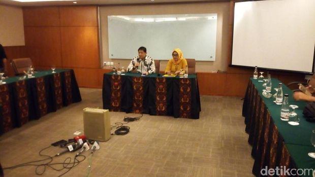 Konferensi Pers Golkar Jabar soal pencabutan dukungan ke Ridwan Kamil.